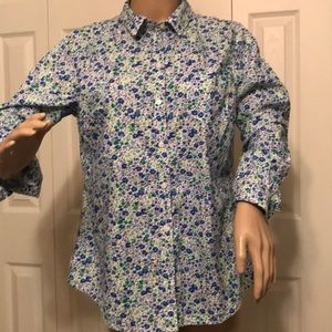 OLD NAVY BUTTON DOWN BLOUSE SIZE MEDIUM